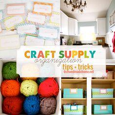consejos y trucos de organización de suministro de artesanía
