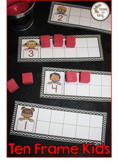 Building Ten Frames - Kindergarten math stations