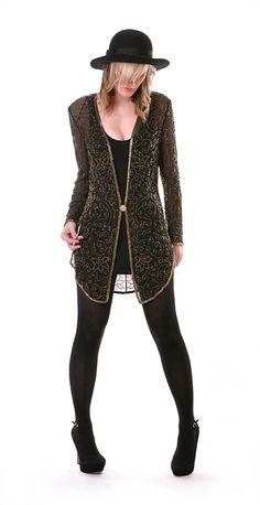 Sheer Silk Beaded Jacket   Damsel Vintage - 80s Vintage Fashion
