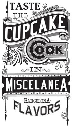 GRAPHIC TYPOGRAPHY COMPOSITION POSTER IN SUPPORT WITH THE MISC. BAR REDESIGN. MISCELANEA GALLERY BARCELONA. by Joan Tarrago
