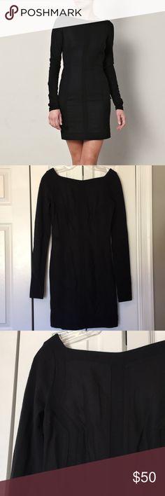 Diane Von Furstenberg black Carita dress The perfect little black dres from DVF! EUC. 59% viscose, 25% polyamide, 11% wool, 5% elastane. 35 inches long. Diane Von Furstenberg Dresses Long Sleeve