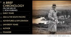 A Brief Chronology on the life of L. Ron Hubbard, founder of Dianetics and the Scientology religion. http://qoo.ly/8inh3/0