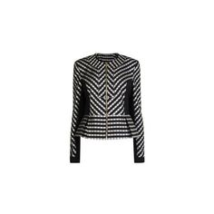 MATTHEW WILLIAMSON Stripe Peplum Jacket (€1.035) found on Polyvore