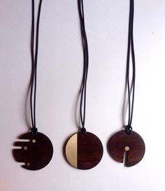 """broken circles"" collection #silverlining #marianovaes #wood,brass rubber"