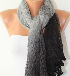 Infinity Scarf Loop Scarf Circle Scarf  Knitted Lace by anils, $25.00
