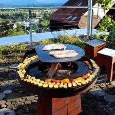 Yagoona Ringgrill Barbeque with the Barramundi Barbeque 80cm Fire Pit and Goanna Base! #ringgrill #teppanyaki #slowfoodmovement