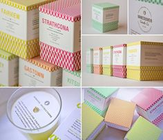Packaging design for Vancouver Candle Co. Soy Candle Packaging  #Inspiration #Packaging