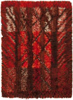 View this beautiful Vintage Rya Rug 45789 from Nazmiyal's fine antique rugs and decorative carpet collection. Shag Pile Rugs, Rya Rug, Mid-century Interior, Latch Hook Rugs, Cheap Carpet Runners, Patterned Carpet, Textile Patterns, Rug Hooking, Large Rugs