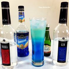 Check out The Blue Iced Tea! Sweet and Seductive! For the recipe, visit us here: www.TipsyBartender.com