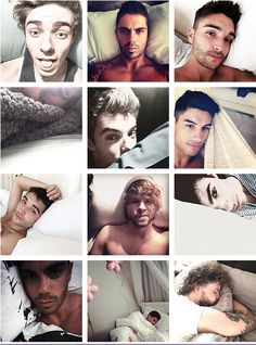 bed selfies, except for like that last ones of Jay and Siva lol