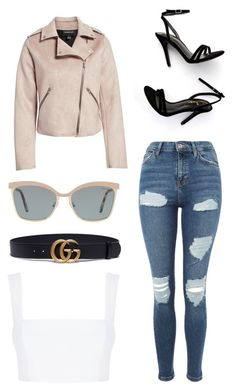 """""""Untitled #9"""" by sophiemo-1 on Polyvore featuring Members Only, Topshop, LULUS, Nicholas, Gucci and Tiffany & Co."""