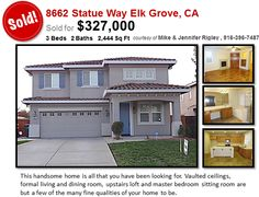 Our latest Elk Grove home for sale located at 8662 Statue Way has JUST SOLD! #inelkgrove http://rigleyrealtygroup.com/elk-grove-just-sold-8662-statue-way-homes-for-sale-in-elk-grove-ca/