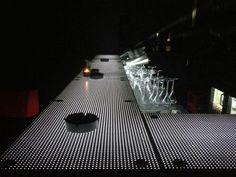 LiTraCon - Light Transmitting Concrete made of 96% concrete and 4% embedded optical glass fibers. Invented and patented by Aron Losonczi.