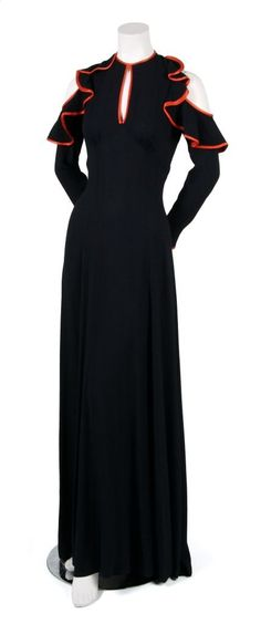 An Ossie Clark for Radley Crepe Gown, Size 36.