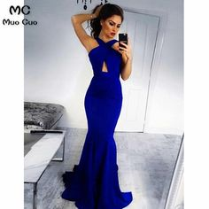 Custom Made Feminine Mermaid Prom Dresses, Backless Prom Dresses, Blue Prom Dresses, 2019 Prom Dresses Cut Out Prom Dresses, Royal Blue Prom Dresses, Prom Dresses 2018, Backless Prom Dresses, Prom Dresses Online, Dress Prom, Dress Formal, Dress Long, Evening Dresses