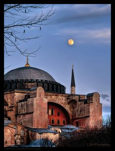 Hagia Sophia in Istanbul, Turkey. Really beautiful on the inside, you could spend a whole day there.