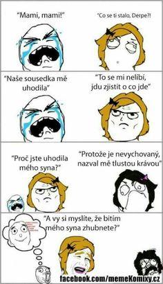 Tlustá susedka Good Jokes, Funny Jokes, English Jokes, Interesting Quotes, Jokes Quotes, Meme Faces, Derp, Funny Pins, Best Memes