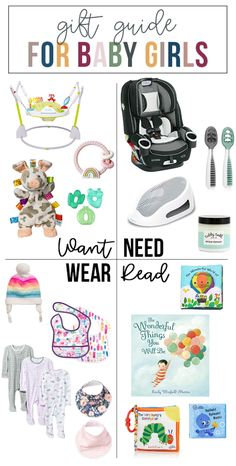want, need, wear, read: the gift guide for baby girls