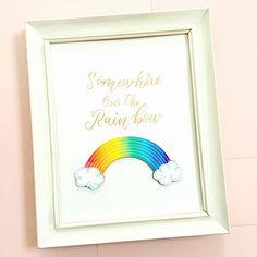 DIY Cute Rainbow Art with your Cricut designed by Jen Goode