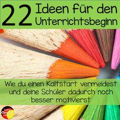 Learn German with fun: 22 Ideen für den Unterrichtsbeginn