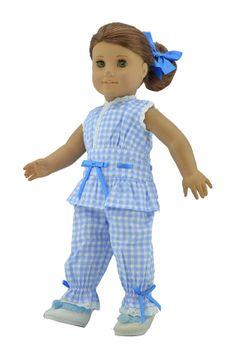 18'' American Girl Doll ClothesBlue Plaid by greatdeal4girls, $12.99