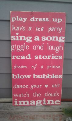 little girls room - not seen these anywhere but sure do need one for my special little 6 yr old :) girl quote