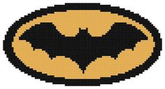 Batman Cross Stitch Pattern Instant Download by threadsandthings1