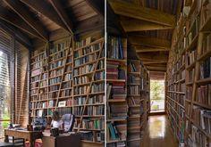 The bookshelves!