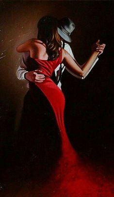 Just a cruel mirage Tango Art, Mode Poster, Tango Dancers, Dance Paintings, Dance Pictures, Pulp Art, Dance Photography, Texture Painting, Painting Inspiration
