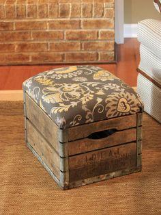 Turn wooden crates into storage superstars.