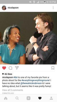 Nicola yoon and Nick Robinson  ❤❤❤❤