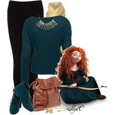 """Merida - Back to School - Disney Pixar's Brave"" by rubytyra on Polyvore"