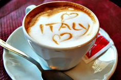 This cappuccino says it all.the only thing better than a perfect cappuccino is savouring it in Italy. Arte Del Cappuccino, Cappuccino Art, Coffee Latte Art, I Love Coffee, Coffee Cafe, Coffee Break, Coffee Shops, Morning Coffee, Morning Joe