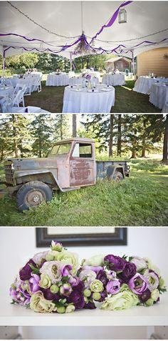 purple wedding tent