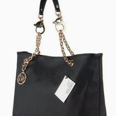 $326 Love Moschino Large Saffiano Chain Strap Shopper Tote Bag #bags #chicforme.blogspot.com