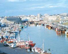 Port de pêche de Lorient dans la Morbihan, Bretagne, France