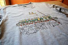 camiseta nueva york gris