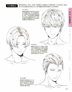 How To Draw Anime Hair, Anime Hair Drawing, Hair Styles Drawing, How To Draw Guys, How To Draw Manga, Drawing Male Hair, Guy Drawing, Anatomy Drawing, Drawing Tips