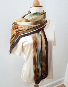 O by DESIGNER OSCAR DE LA RENTA, 100% Silk Oblong Scarf, 52.5 X 10.5 inches e2adbc738c1