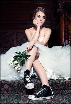 Pretty Bride in Chucks