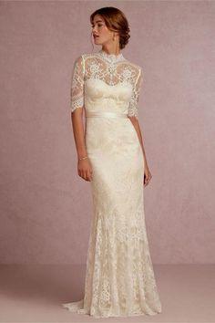 vintage white lace wedding dress Naf Dresses