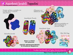 Teppolini: Cloth pads Made In Italy by an artisan lady. Innovatibe Coolmax cloth in contact with your skin will keep you fresh and dry. We love them! https://www.coppetta-mestruale.it/assorbenti_donna_teppolini.php