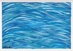 "Original Painting ""Waves"" by Karolina Gassner (karogfineart)"