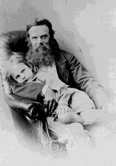 William Holman Hunt with son Cyril,1869