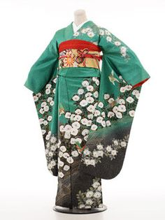 [Coming of age ceremony kimono] coming of age ceremony kimono rental 105 s Green w/ White camellias [quinceañera] [full set] / kimono woman / trusting furisode-rental renntaru comingof inbetween / furisode / coming of age ceremony rentals / kimono