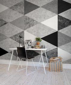 A favorite wallpaper from Rebel Walls, Geometric Marble! #rebelwalls #wallpaper #wallmurals