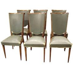 Six Art Deco Chairs