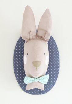 Trophée lapin chic à noeud papillon : Chambre d'enfant, de bébé par monsieur-paul  http://www.tremplindescreateurs.fr/contestant/2420.html