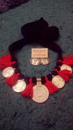 Coin Jewelry, Coin Necklace, Crochet Necklace, Jewellery, Jewelry Accessories, Wreaths, Halloween, Decor, Jewels