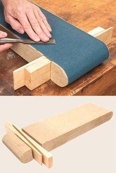 Sanding belt lapping jig | Sharpening-Shortcuts, Modern Woodworking